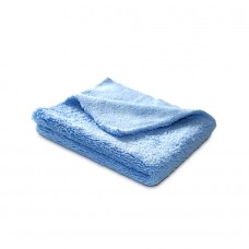 Микрофибра, салфетка 40*40 См, голубая, 400 гр без оверлока 1 шт