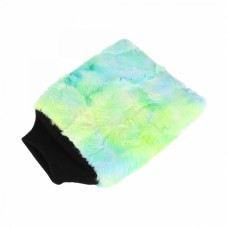 PURESTAR Color-Pop wash mitt . Плюшевая особомягкая рукавица для мойки.  зеленая PS-M-007-GRN