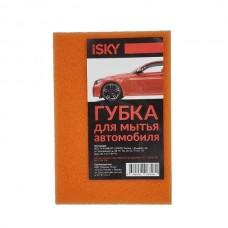 """Губка для мытья автомобиля iSky """"кирпич"""", поролон, цвет в ассортименте . 16,5 * 11 см"""
