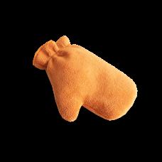 Микрофибровая рукавица для химчистки и уборки авто оранжевая AU-238