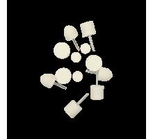 Насадка-войлок для полировки алюминия, хрома и стекла - комплект 12 предметов Au-33513 Autech